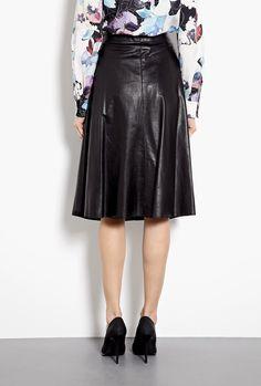 Umbrella Box Pleat Leather Skirt by 3.1 Phillip Lim