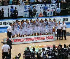 Basketball WC 2006 Final//Greece won the silver medal at the 2006 FIBA World Championship after their memorable 101–95 win against the USA.