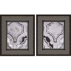 Paragon Concrete Fresco I by Bobby Sikes 2 Piece Framed Painting Print Set