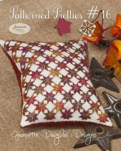 Patterned Pretties by Jeannette Douglas Designs Small Pillows, Colorful Pillows, Throw Pillows, Cross Stitch Magazines, Just Cross Stitch, Different Stitches, Spring Colors, Wool Felt, Christmas Stockings
