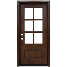 Steves & Sons 36 in. x 80 in. Savannah Left-Hand 6 Lite Clear Stained Mahogany Wood Prehung Front Door - - The Home Depot Porte Cochere, Farmhouse Interior Doors, Color Caoba, Colors, Wood Entry Doors, Barn Doors, Entrance Doors, Sliding Doors, Prehung Doors