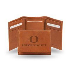 New! Oregon Ducks Tri-Fold Wallet (Pecan Cowhide) #OregonDucks