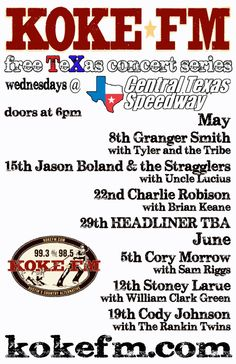 Central Texas Speedway – KOKE FM Free Concert Series