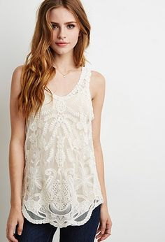 Embroidered Lace Tank | Forever 21 - 2000131309 | Summer 15
