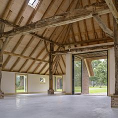 concrete floor concealing all installations in a 19th century national monumental typical farm