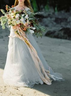 A stunning bridal inspiration shoot by Donny Zavala on the Oregon Coast with…