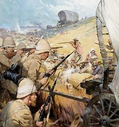1900 - The Boer War The Battle of Spion Kop.British Vs Dutch fighting over spoils of war,.The defeated Zulu Lands of South Africa. Colonialism was a WAR on Aficans. Lest We Forget British Soldier, British Army, Military Art, Military History, British Colonial, Art Graphique, African History, British History, Commonwealth