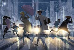Street Crossing. by PascalCampion on DeviantArt