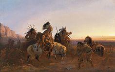 The Lost Trail Digital Art  - The Lost Trail Fine Art Print by Karl Ferdinand Wimar.