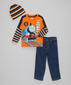 Thomas & Friends Orange & Navy 'Thomas' Pants Set - Toddler by Thomas & Friends #zulily #zulilyfinds
