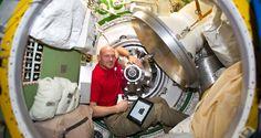 Station Astronaut Alexander Gerst Inside ATV-5