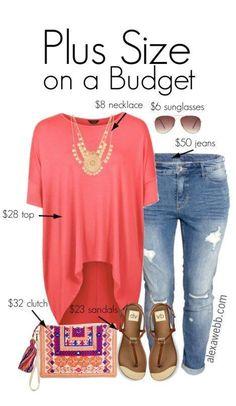 Plus Size Budget Outfit Idea - Plus Size Jeans - Plus Size Fashion for Women Plus Size Jeans, Look Plus Size, Plus Size Women, Plus Size Fashion For Women Summer, Plus Size Style, Beach Outfits Women Plus Size, Casual Plus Size Outfits, Plus Size Shirts, Plus Size Casual