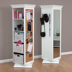Buy DisplayIt Rotating Swivel Storage Mirror and Bookcase -$137 deals direct  Perfect for the girl's room