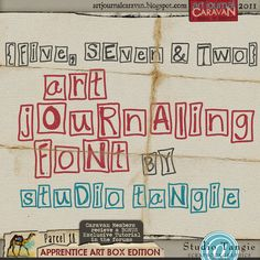 {Five,Seven, &Two} Hand-Drawn Art Journaling Font by Studio Tangie