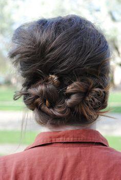 vintage inspired hair style DIY {{poof swirls}}