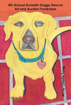 Created for the Dunedin Doggie Rescue, this adorable yellow labrador is looking for a home - on your wall!