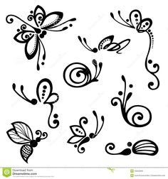Vector Set Of Stylized Ornamental Insects - Download From Over 47 Million High Quality Stock Photos, Images, Vectors. Sign up for FREE today. Image: 45552846
