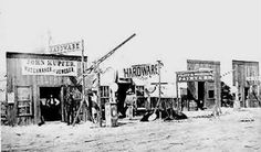 """Pioneer life in Early Oklahoma - A typical """"Main Street"""" - . Us History, American History, Family History, Old Pictures, Old Photos, Pioneer Life, Dust Bowl, Into The West, American Frontier"""
