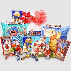 Children's Christmas, gift package from Santa will be a sure hit among the children with the glow- in the dark pillows, chocolates,, hot cocoas and more! Chocolate Santa, White Chocolate, Santa Gifts, Christmas Gifts, Childrens Christmas, Gift Packaging, Cool Toys, Chocolates, Childhood Memories