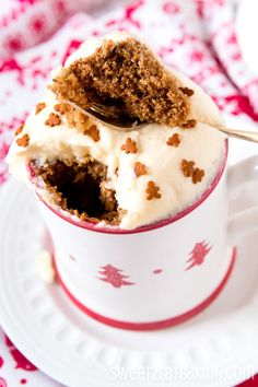 Christmas Gingerbread Mug Cake Recipe by Sweet2EatBaking.com