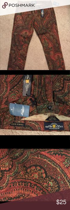 Lucky Brand Charlie Skinny Paisley colored jeans Lucky Brand Charlie Skinny jeans. Multi colored. Never worn. Great for fall/winter months. Lucky Brand Jeans Skinny