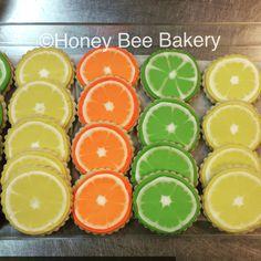 Citrus series....iced sugar cookies      #icedsugarcookies #royalicing #madefromscratch #madewithlove #allnaturalcookies #honeybeecookies #honeybeebakery
