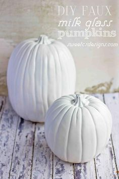 DIY Halloween: DIY Faux Milk Glass Pumpkins: DIY Halloween Decor
