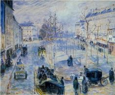 """Le Boulevard de Clichy"" (1880) by Camille Pissarro (1829-1903), Danish-French Impressionist and Neo-Impressionist painter."