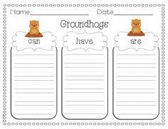 Miss Kindergarten: Groundhog Day Ideas