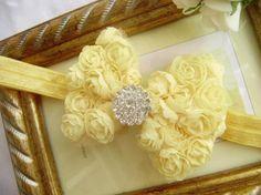 4 Baby Couture Chiffon Rose Bow Headband