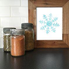 New to WallCandyPrintables on Etsy: Christmas Printable Christmas Art Holiday Printable Holiday Art Winter Art Christmas Watercolor Snowflake Snowflake (5.00 USD)