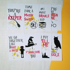 Harry Potter Cute Greeting Card Valentines Day Card by MarcyVamp