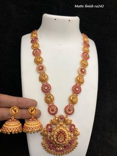 Temple jewellery available at Ankh Jewels for booking msg on +91 9619291911...