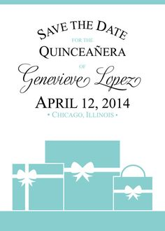 Tiffany Quinceanera or Sweet Sixteen Invitation by PinkTexasPrint