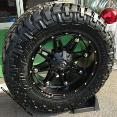 Custom Automotive :: Packages :: Off-Road Packages :: Fuel Hostage Black - Nitto Trail Grappler Toyota Trucks, Dodge Trucks, New Trucks, Cool Trucks, Fire Trucks, Pickup Trucks, Truck Rims And Tires, Truck Wheels, Wheels And Tires