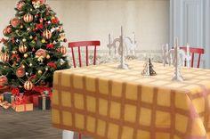 Tovaglia a quadretti color zucca e rame lurex. Perfetta per ogni occasione, sopratutto per gli eventi speciali come un pranzo di Natale in famiglia.  Il tessuto lucido e luminoso da quel tocco di eleganza in più alla tua casa.  Dimensioni: Lunghezza: 280 cm x Larghezza: 150 cm. dimensioni personalizzabili su richiesta.