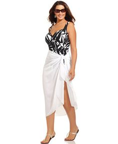 c02e4a4b737 Dotti Plus Size Pareo Sarong Cover Up Plus Sizes - Swimwear - Macy s