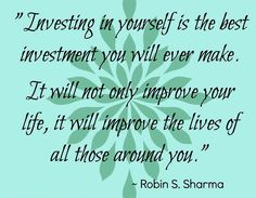 Investing in your health and wellness is the BEST thing you can do in this life!   Too often people short change themselves, getting fit and learning how to live a healthier lifestyle is an investment into a better future!
