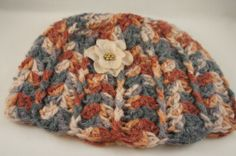 Women's Handmade Crochet Multicolored Ribbed Beanie by ToniDStudio, $25.00