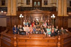 Students of Harrison School District 36 visit the capitol for the day in April 2015.
