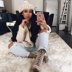 I can change your whole sauce, you a lil' mo' spicy 😏 Chill Outfits, Classy Outfits, Casual Outfits, Cute Outfits, Winter Fashion Outfits, Fall Winter Outfits, Autumn Winter Fashion, Baddie Outfits For School, Queen