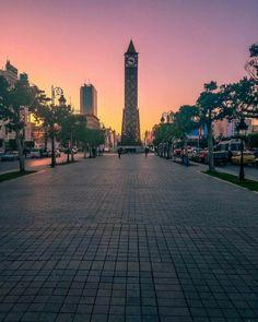 صورة جميلة لشارع الحبيب بورقيبة قلب العاصمة التونسية النابض #تونس_المزيانة #تونس #tunisie #tunisia