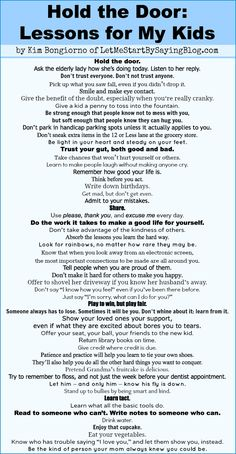 Maybe my favorite thing I've found on Pinterest. Good lessons for everyone to follow! <3