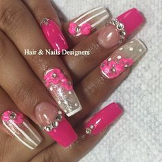 Nails on pink