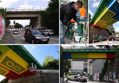 LEGO-Bridge by german streetartist Megz.