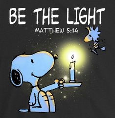 Ye are the light of the world. A city that is set on an hill cannot be hid. Neither do men light a candle, and put it under a bushel, but on a candlestick; and it giveth light unto all that are in the house. Let your light so shine before men, that they may see your good works, and glorify your Father which is in heaven. (Mat 5:13-16)