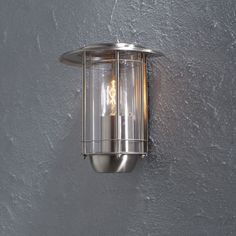 Väggplafond Konstsmide Trento E27 Rostfri - Fasadbelysning - Utebelysning