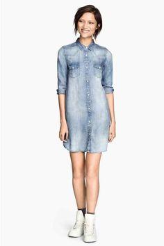 Longue chemise en jean | H&M