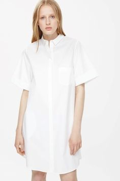 Cuffed shirt dress
