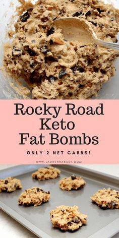 Rocky Road Keto Fat Bombs + Calorie Breakdown #keto #fatbombs #ketosnacks #lowcarb